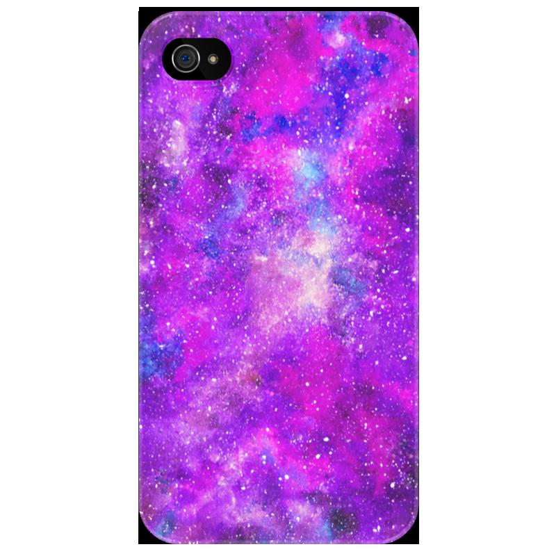 Чехол для iPhone 4/4S Printio Космос (розовый) чехол для муха iq446 кожа iq446 роскошь полиуретан открытая вверх и пуховик черный белый розовый цвет