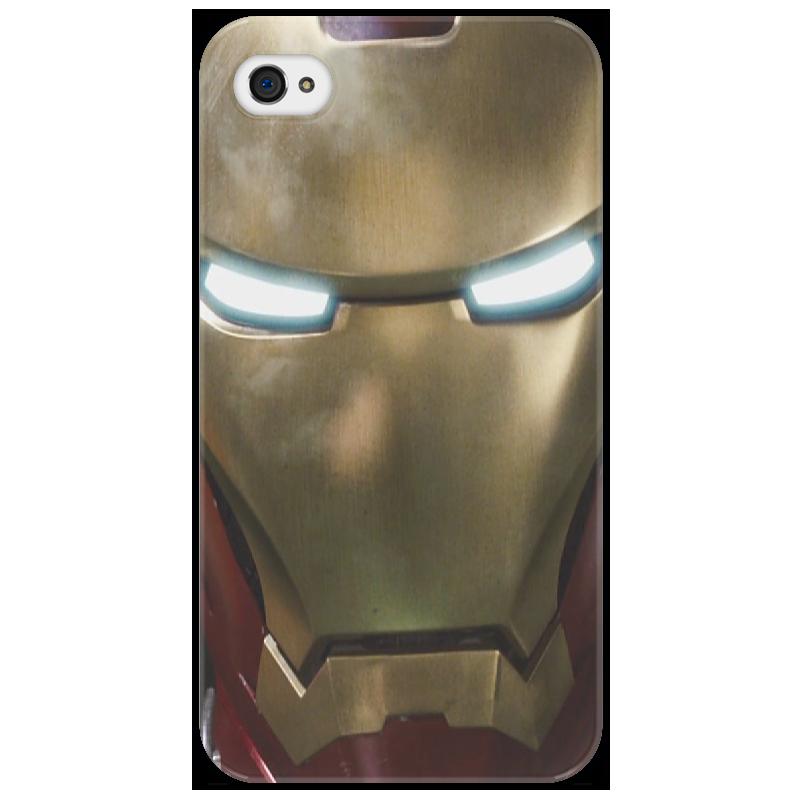 Чехол для iPhone 4/4S Printio железный человек айфон 4s 8 гб дешево в москве белый