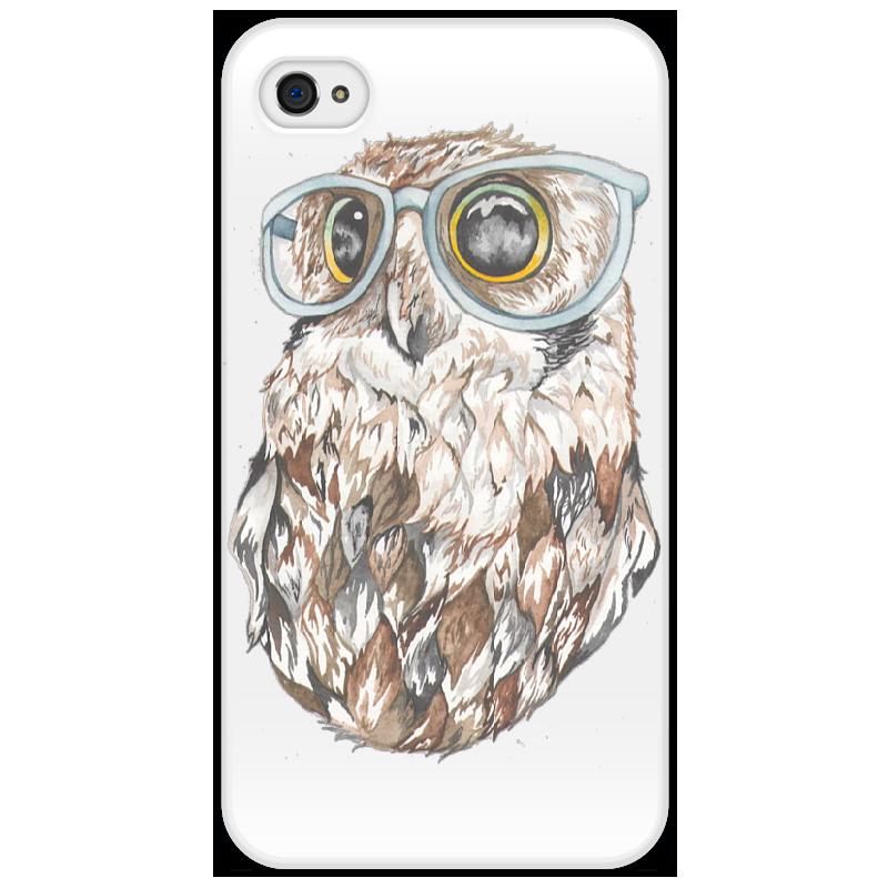 Чехол для iPhone 4/4S Printio Совенок айфон 4s 8 гб дешево в москве белый