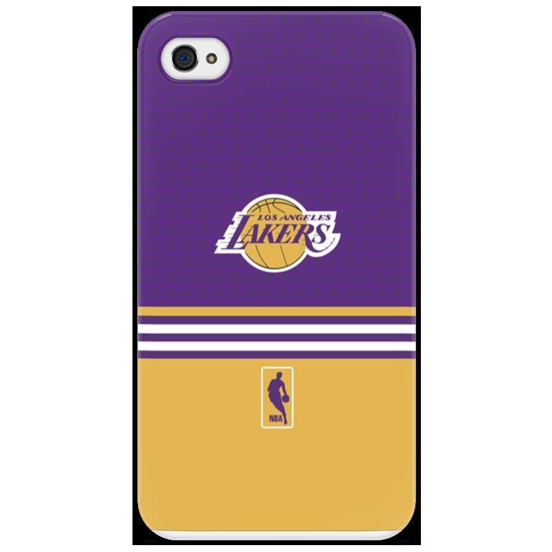 Чехол для iPhone 4/4S Printio Lakers case pro баскетбольную форму lakers