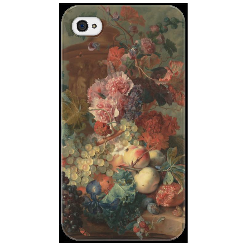Чехол для iPhone 4/4S Printio Цветы (ян ван хёйсум) ян ван хейсум