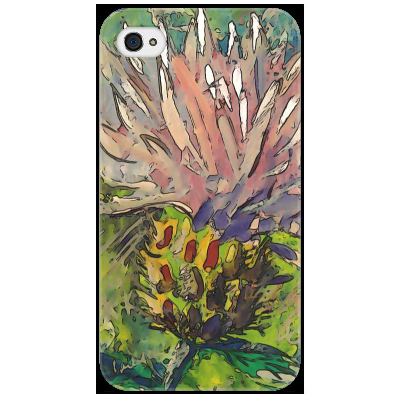 Чехол для iPhone 4/4S Printio Василёк поиск семена василёк фрости