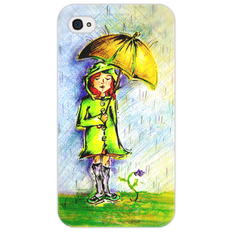 Чехол для iPhone 4/4S Printio Дождик, дождик, уходи!