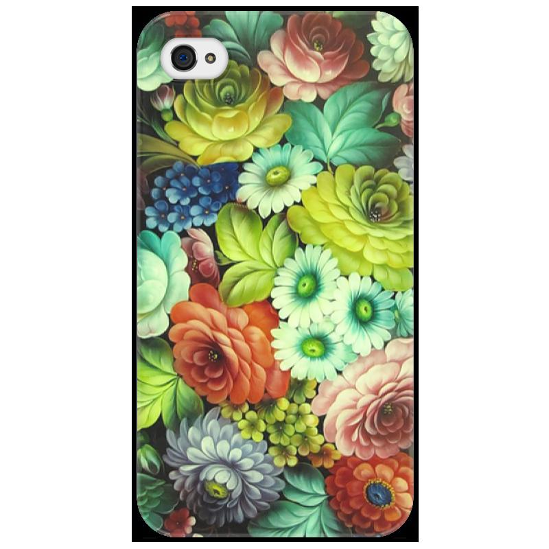 Чехол для iPhone 4/4S Printio В стиле жостовского подноса айфон 4s 8 гб дешево в москве белый