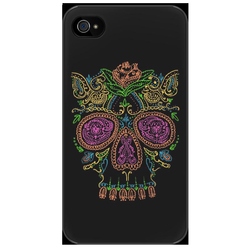 Чехол для iPhone 4/4S Printio Сахарный череп санки galaxy мишутка 5 с толкателем и спинкой красные
