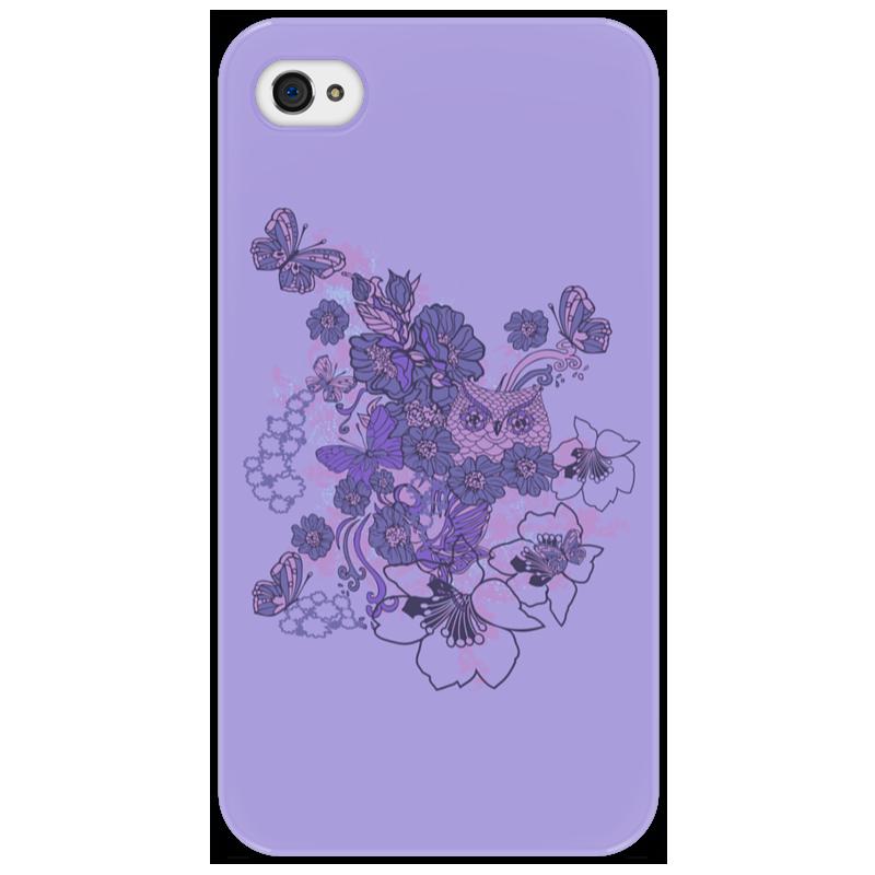 Чехол для iPhone 4/4S Printio Сова в цветах айфон 4s 8 гб дешево в москве белый