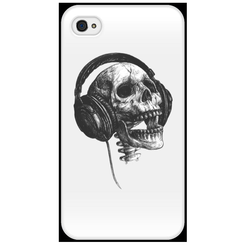 Чехол для iPhone 4/4S Printio Музыка навсегда айфон 4s 8 гб дешево в москве белый