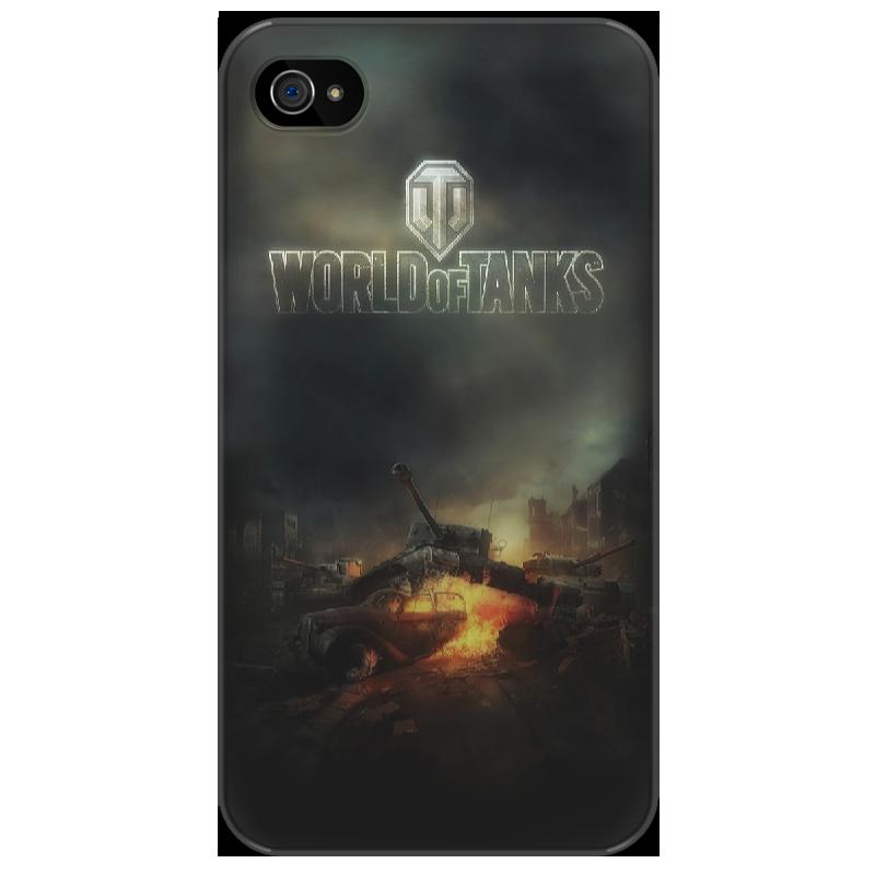 Чехол для iPhone 4/4S Printio World of tanks стоимость