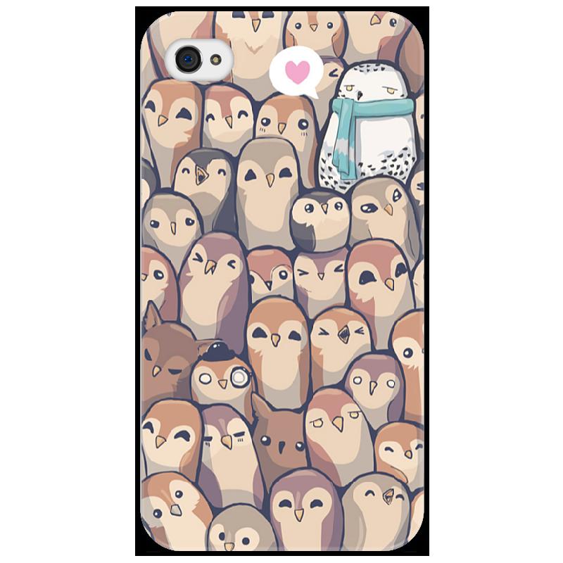 Чехол для iPhone 4/4S Printio Owls and owls owls