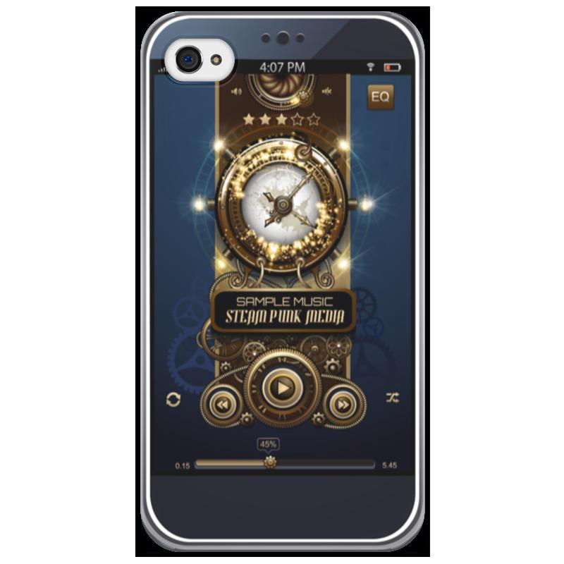 Чехол для iPhone 4/4S Printio Стимпанк-музыка