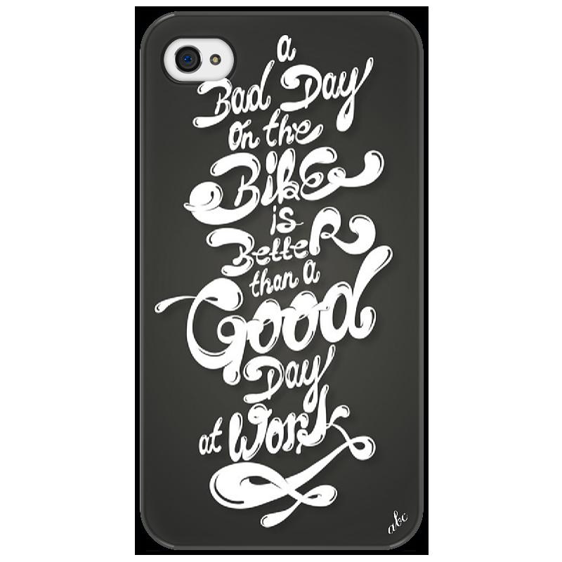 Чехол для iPhone 4/4S Printio Bike day good day bad day easystarts cd rom