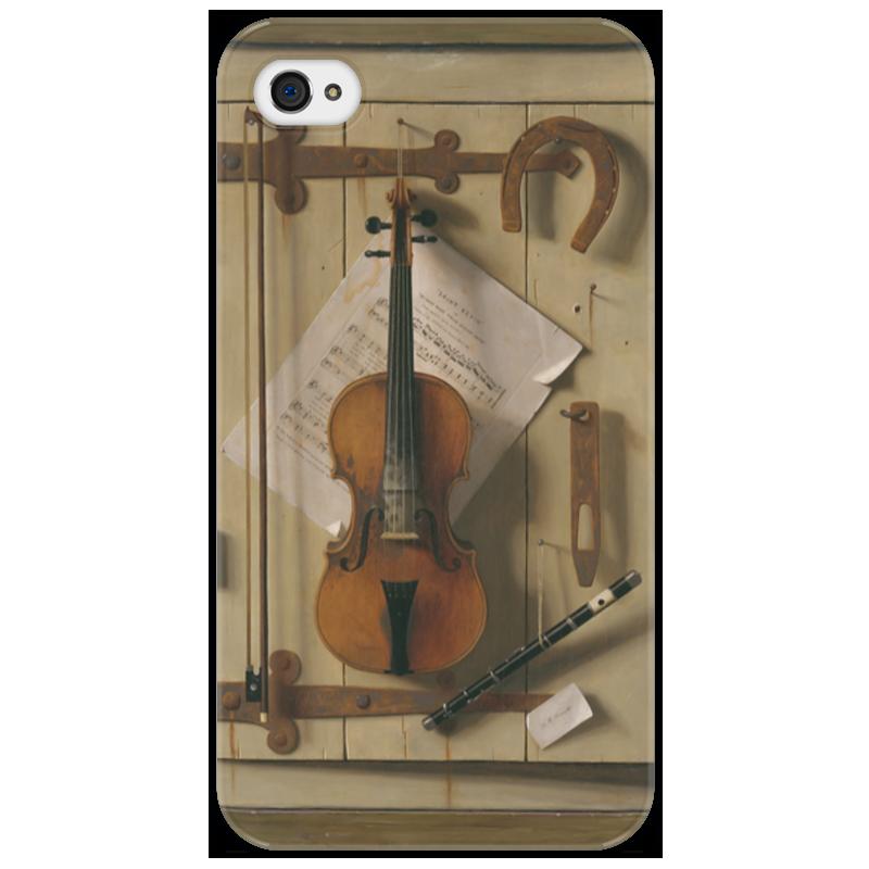 Чехол для iPhone 4/4S Printio Натюрморт со скрипкой (уильям харнетт) стоимость