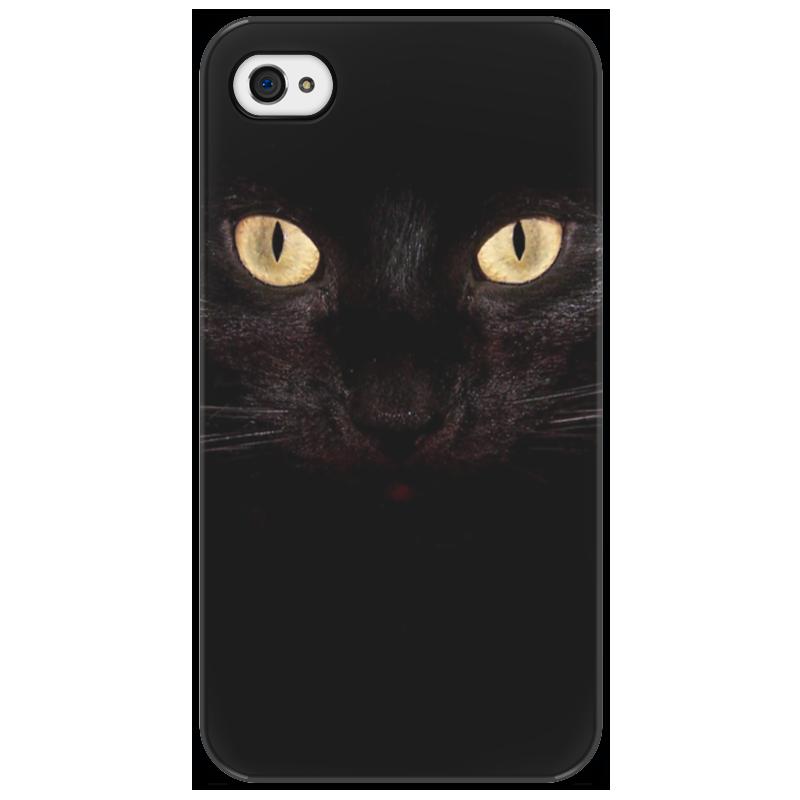 Чехол для iPhone 4/4S Printio Black cat стоимость