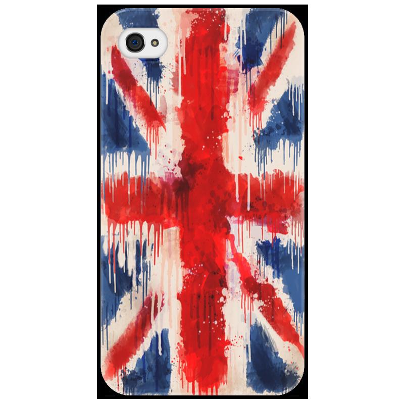 Чехол для iPhone 4/4S Printio British flag drip стоимость
