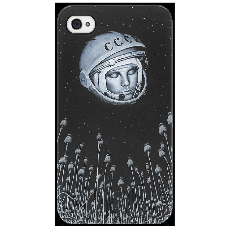 Чехол для iPhone 4/4S Printio Гагарин