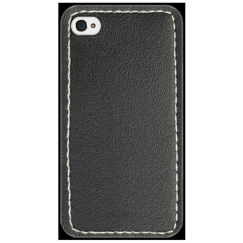 Чехол для iPhone 4/4S Printio Кожа с прошивкой чехол для муха iq446 кожа iq446 роскошь полиуретан открытая вверх и пуховик черный белый розовый цвет