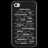 """Чехол для iPhone 4/4S """"Манта для настоящих мужчин (черный вариант)"""" - праздник, мужчина, подарок, пожелания, мантра"""