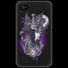 "Чехол для iPhone 4/4S ""Лиловая мистерия"" - оригинально, креативно, мистика"