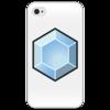 """Чехол для iPhone 4/4S """"Crystal case (4/4s white)"""" - арт, стиль, креативно, выделись из толпы, минимализм"""
