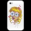 """Чехол для iPhone 4/4S """"Без ума от цветов"""" - любовь, девушка, цветы, сердца, блондинка"""