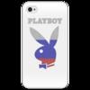"""Чехол для iPhone 4/4S """"Playboy Россия"""" - плейбой, плэйбой, россия, зайчик, playboy"""