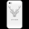 """Чехол для iPhone 4/4S """"Dear Deer"""" - рисунок, дизайн, олень, минимализм, рога"""