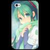 "Чехол для iPhone 4/4S ""Miku Hatsune Sush"" - аниме, hatsune, мику, бесконечное лето, miku"