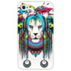 "Чехол для iPhone 4/4S ""Шаман-лев"" - арт, лев, прикольные, ярко, креативно, дреды"