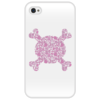 """Чехол для iPhone 4/4S """"Pinkskull (4/4s)"""" - арт, популярные, оригинально"""