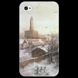 "Чехол для iPhone 4/4S ""Сухарева башня"" - картина, саврасов"