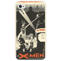 "Чехол для iPhone 4/4S ""X-Men"" - comics, супергерои, люди икс, marvel, x-men, superheroes, супергерои-мутанты"