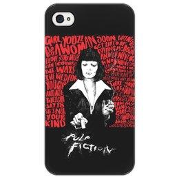 """Чехол для iPhone 4/4S """"Pulp Fiction (Ума Турман)"""" - mia, культовое кино, тарантино, криминальное чтиво, ума турман"""