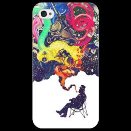 "Чехол для iPhone 4/4S ""Креатив"" - человек, рисунки, дым, стул, креативное мышление"