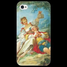 "Чехол для iPhone 4/4S ""Счастливые любовники"" - картина, фрагонар"