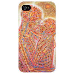 "Чехол для iPhone 4/4S ""Kissing"" - music, psychodelic, оригинально, alex grey, tool"