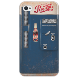 "Чехол для iPhone 4/4S ""Pepsi-Cola Vintage vending machine "" - арт, iphone, america, vintage, shapdesign, pepsicola"