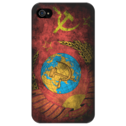 "Чехол для iPhone 4/4S ""Чехол для iPhone 4/4s СССР винтаж"" - страны, флаги, винтаж, ностальгия"