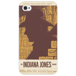 "Чехол для iPhone 4/4S ""Indiana Jones Trilogy"" - арт, poster, афиша, кино, 80's, индиана джонс"