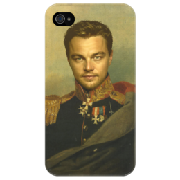 """Чехол для iPhone 4/4S """"Леонардо ДиКаприо"""" - арт, леонардо дикаприо, leonardo dicaprio, leo, oil painting, actor"""