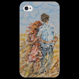 """Чехол для iPhone 4/4S """"Рыжее лето"""" - красиво, подарок девушке, рыжая, поле, вдвоем"""