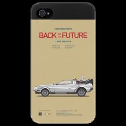 """Чехол для iPhone 4/4S """"BACK TO THE FUTURE"""" - назад в будущее, фантастика, movie, poster, 80's, кино афиша"""