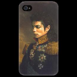 "Чехол для iPhone 4/4S ""Michael Jackson"" - арт, michael jackson, king, майкл джексон, король музыки поп, legend"