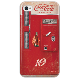 "Чехол для iPhone 4/4S ""Coca-Cola Vintage vending machine"" - арт, red, drink, coca-cola, shapdesign"