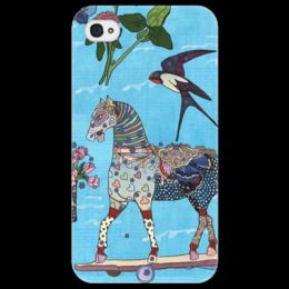 """Чехол для iPhone 4/4S """"мечты """" - бабочки, цветы, мечты, лошадка, сердечки, ласточка, катя белявская, незабудки"""