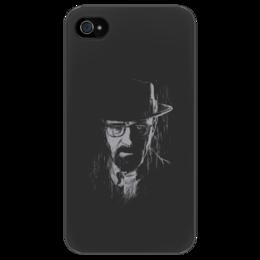 """Чехол для iPhone 4/4S """"Heisenberg"""" - арт, breaking bad, heisenberg, walter white, во все тяжкие, dark"""