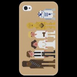 """Чехол для iPhone 4/4S """"Star Wars Pixel People"""" - star wars, pixel art"""