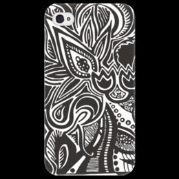 """Чехол для iPhone 4/4S """"Flower cover"""" - арт, стиль, популярные, рисунок, оригинально, девушке, парню"""