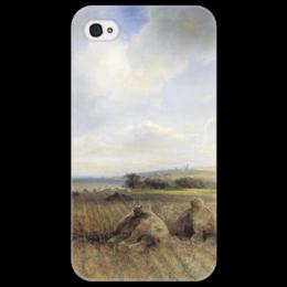 "Чехол для iPhone 4/4S ""К концу лета на Волге"" - картина, саврасов"