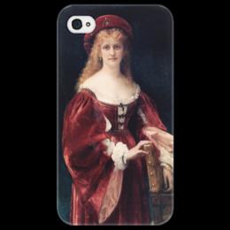 """Чехол для iPhone 4/4S """"Портрет аристократки из Венеции"""" - картина, кабанель"""