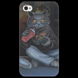 "Чехол для iPhone 4/4S ""Няшный геймер"" - арт, apple, геймер, чехол"